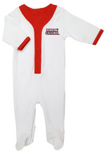 Louisiana Ragin Cajuns Baby Long Sleeve Baseball Style Playsuit