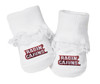 Louisiana Ragin Cajuns Baby Toe Booties with Lace