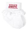 Louisiana Ragin Cajuns Baby Laced Sock Booties