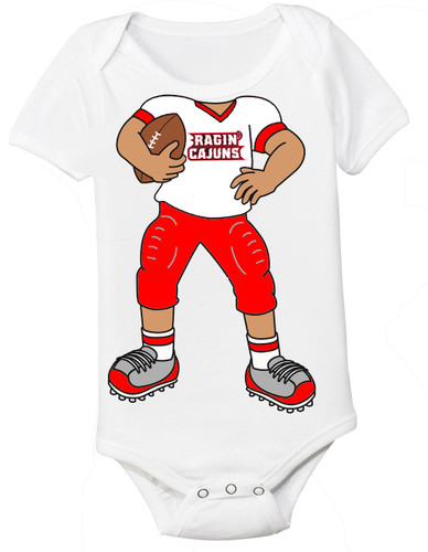 Louisiana Ragin Cajuns Heads Up! Football Baby Onesie