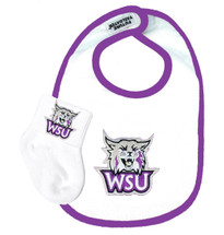 Weber State Wildcats Bib and Socks Baby Set