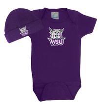 Weber State Wildcats Baby Bodysuit and Cap Set