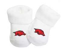 Arkansas Razorbacks Baby Toe Booties