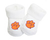 Clemson Tigers Baby Toe Booties