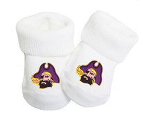 East Carolina Pirates Baby Toe Booties