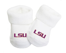 LSU Tigers Baby Toe Bootie