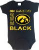 Iowa Hawkeyes On Gameday Baby Onesie