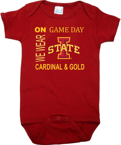 Iowa State Cyclones On Gameday Baby Onesie