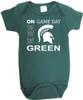 Michigan State Spartans On Gameday Baby Onesie