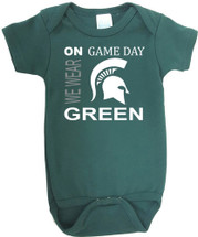 Michigan State Spartans On Gameday Baby Onesie