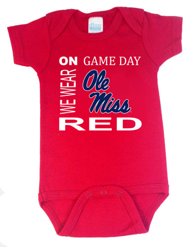 Mississippi Ole Miss Rebels On Gameday Baby Onesie