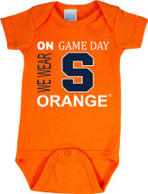 Syracuse Orange On Gameday Baby Onesie