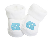 North Carolina Tar Heels Baby Toe Booties