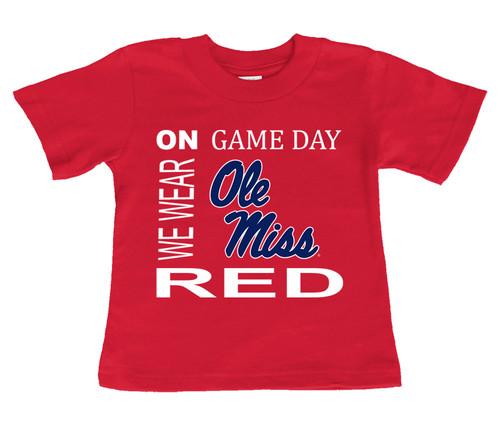 Mississippi Ole Miss Rebels On Gameday Infant/Toddler T-Shirt