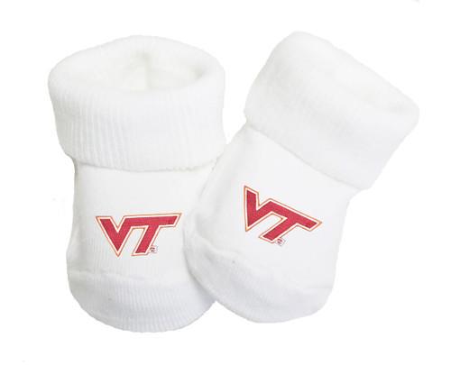Virginia Tech Hokies Baby Toe Booties