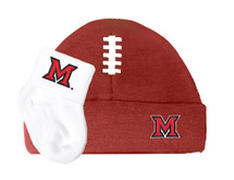 Miami RedHawks Football Cap and Socks  Baby Set