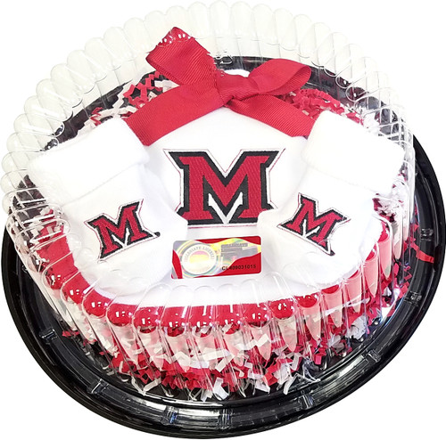 Miami RedHawks Piece of Cake Baby Gift Set