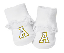 Appalachian State Mountaineers Baby Toe Booties with Lace
