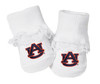 Auburn Tigers Baby Toe Booties with Lace