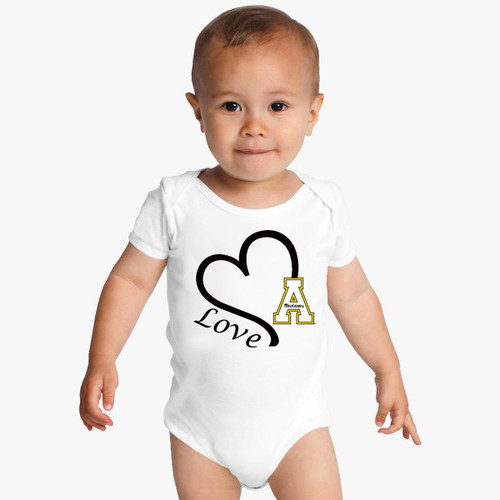 Appalachian State Mountaineers Love Baby Onesie
