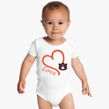 Auburn Tigers Love Baby Onesie