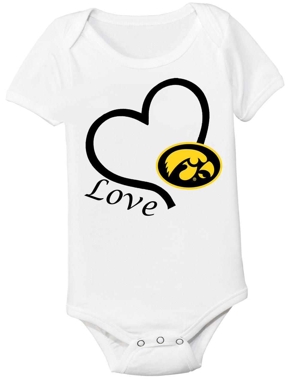54f038a7b Iowa Hawkeyes Love Baby Bodysuit