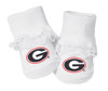 Georgia Bulldogs Baby Toe Booties with Lace