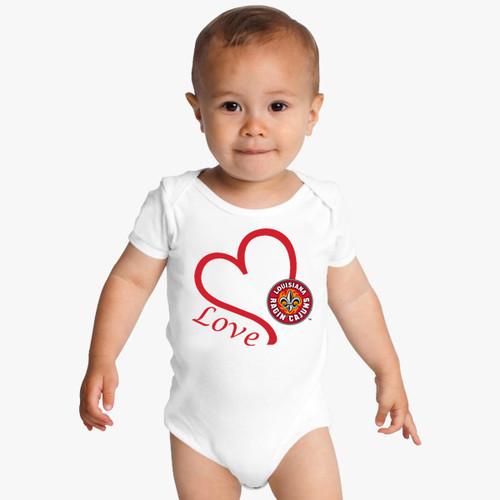 Louisiana Ragin Cajuns Love Baby Onesie