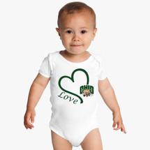 Ohio Bobcats Love Baby Onesie
