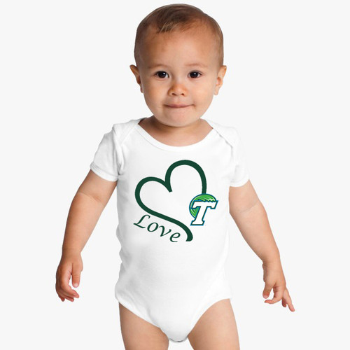 Tulane Green Wave Love Baby Onesie