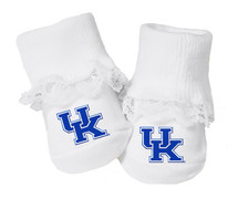 Kentucky Wildcats Baby Toe Booties with Lace