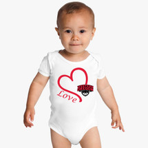 Western Oregon Wolves Love Baby Bodysuit