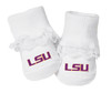 LSU Tigers Baby Toe Booties with Lace