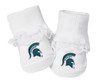 Michigan State Spartans Baby Toe Booties with Lace