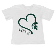 Michigan State Spartans Love Infant/Toddler T-Shirt