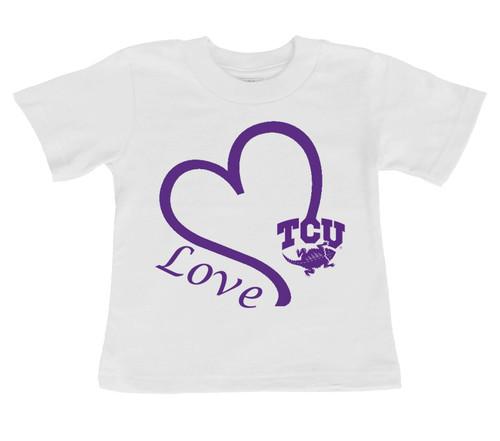 Texas Christian TCU Horned Frogs Love Infant/Toddler T-Shirt