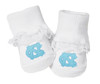 North Carolina Tar Heels Baby Toe Booties with Lace