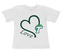 Tulane Green Wave Love Infant/Toddler T-Shirt