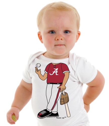 Alabama Crimson Tide Heads Up! Baseball Baby Onesie