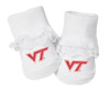 Virginia Tech Hokies Baby Toe Booties with Lace