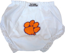 Clemson Tigers Eyelet Baby Diaper Cover