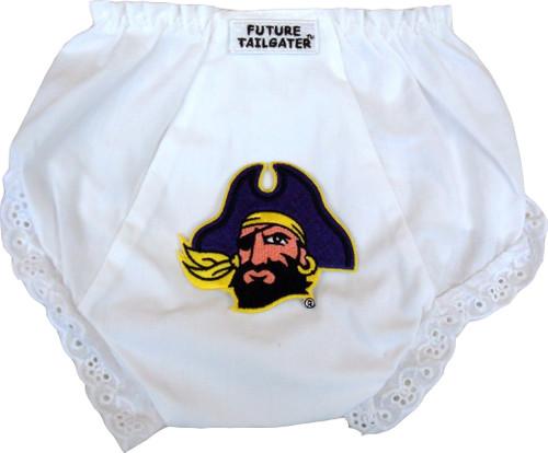 East Carolina Pirates Eyelet Baby Diaper Cover