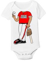 Louisiana Ragin Cajuns Heads Up! Baseball Baby Onesie
