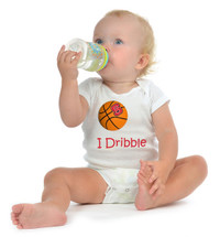 "North Carolina State Wolfpack Basketball ""I Dribble"" Baby Onesie"