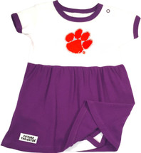 Clemson Tigers Baby Onesie Dress - Purple