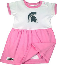 Michigan State Spartans Baby Bodysuit Dress - Pink