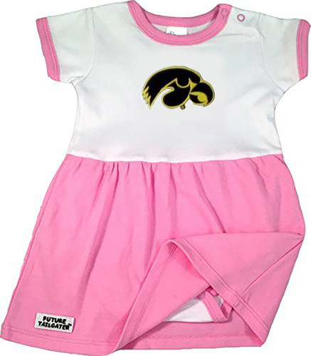 Iowa Hawkeyes Baby Onesie Dress - Pink