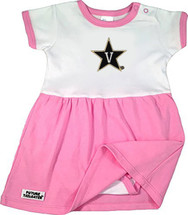 Vanderbilt Commodores Baby Onesie Dress - Pink