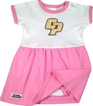 Cal Poly Mustangs Baby Baby Onesie Dress - Pink