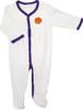 Clemson Tigers Baby Pleated Playsuit - Purple